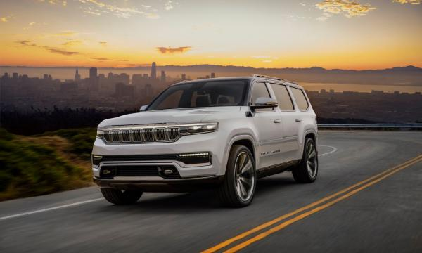 Jeep Grand Wagoneer concept barst los